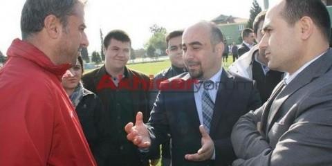 Galatasaray teknik direktörü Hamza Hamzaoğlu ile,